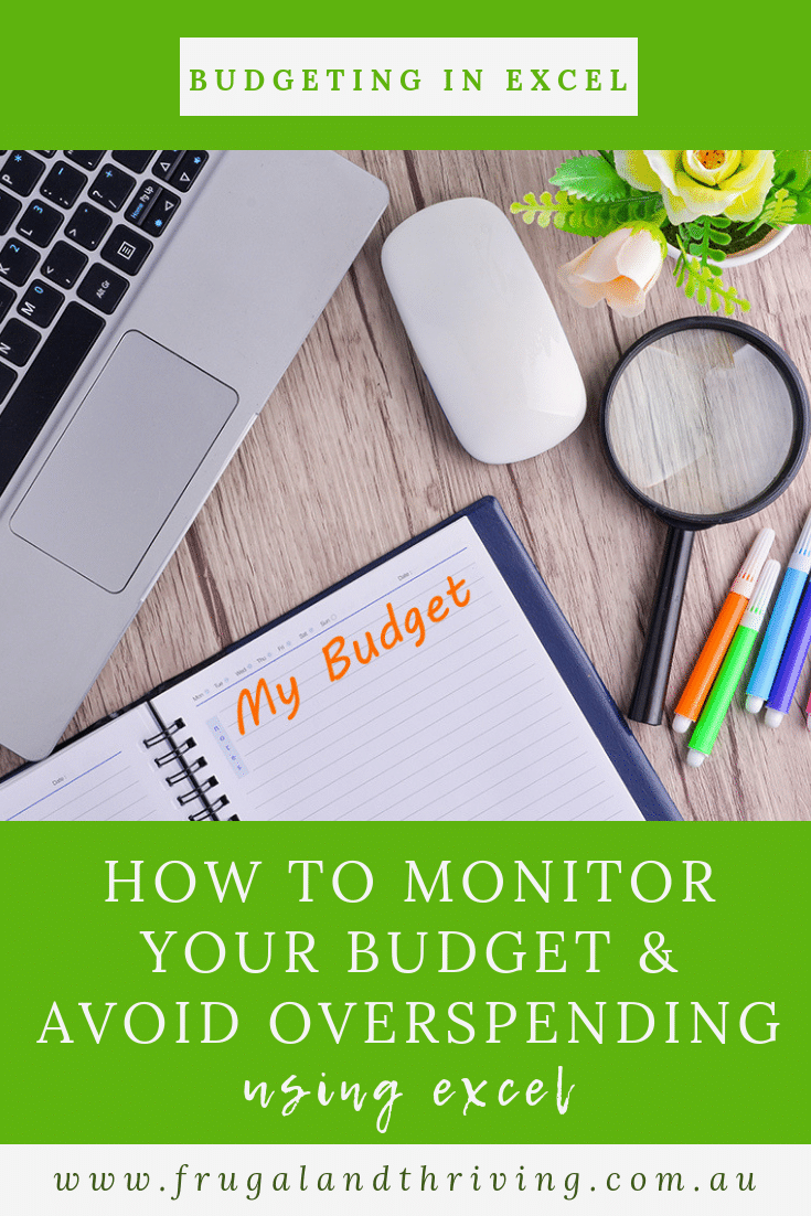 A budget is no good if you don\'t use it! Here\'s how to monitor your budget to make sure you stick to it. #budgeting #excel