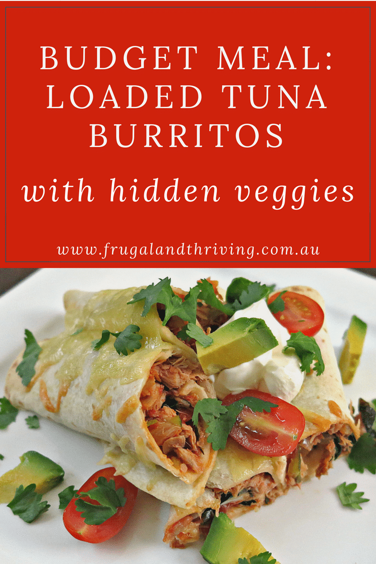 loaded tuna burritos with hidden veggies