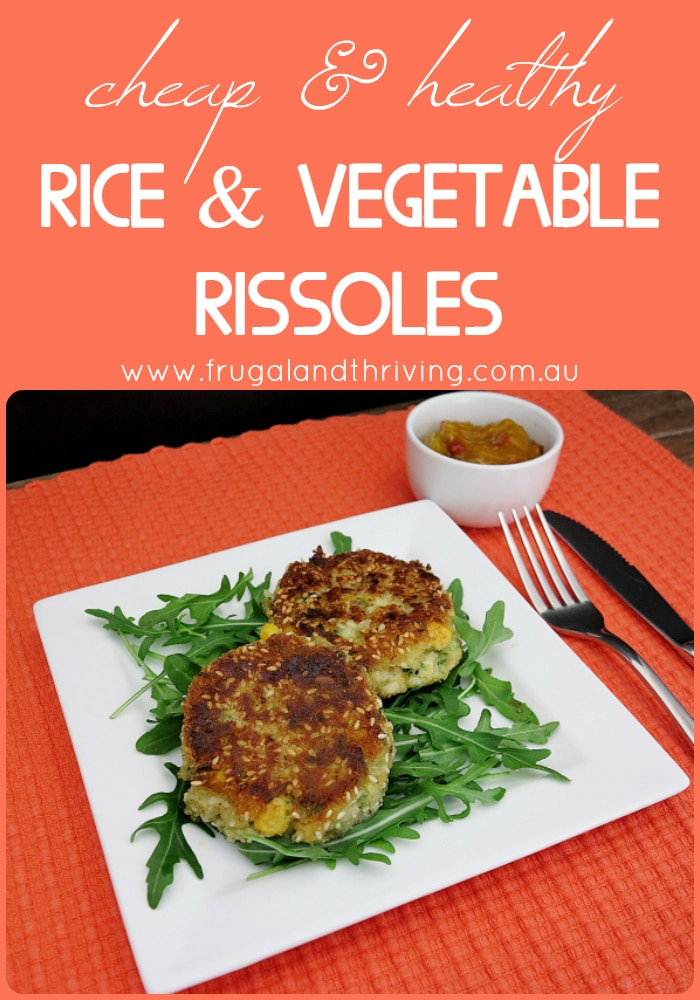 rice and vegetable rissoles