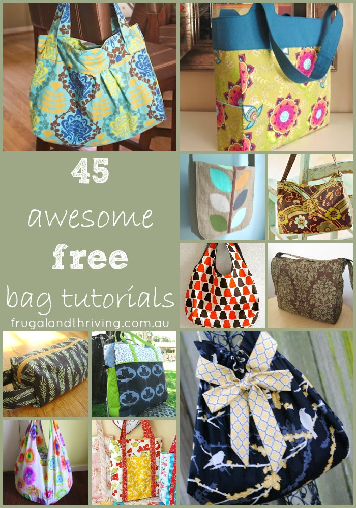 45 Awesome Free Bag Making Tutorials