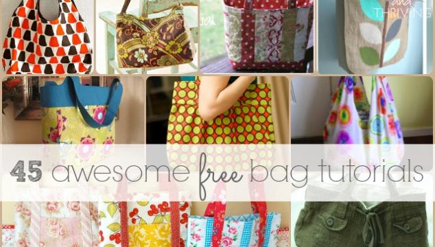 45 Awesome Free Bag Making Tutorials