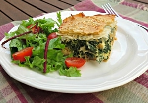 sliverbeet and mushroom pie