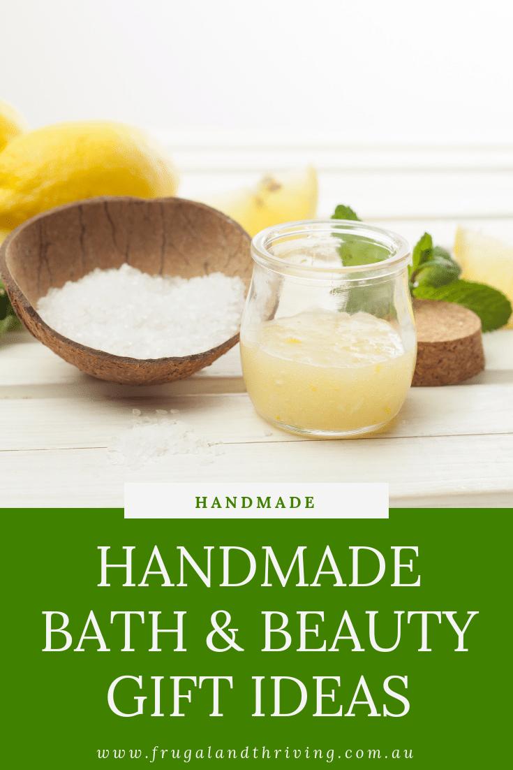 Handmade Bath and Beauty Gift Ideas
