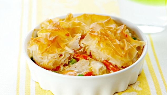 Cheap Cheap chicken and vegetable pie