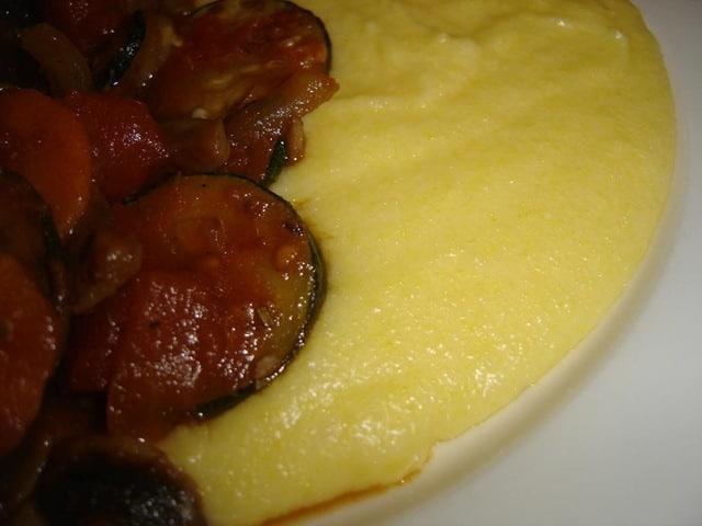 food we often think of mashed potato or pasta, but soft polenta ...