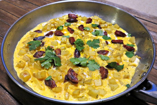 Chorizo Potato Omelette