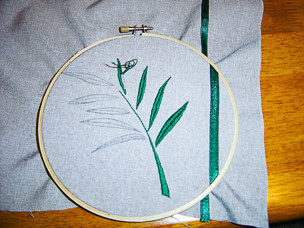 sewing design with satin stitch