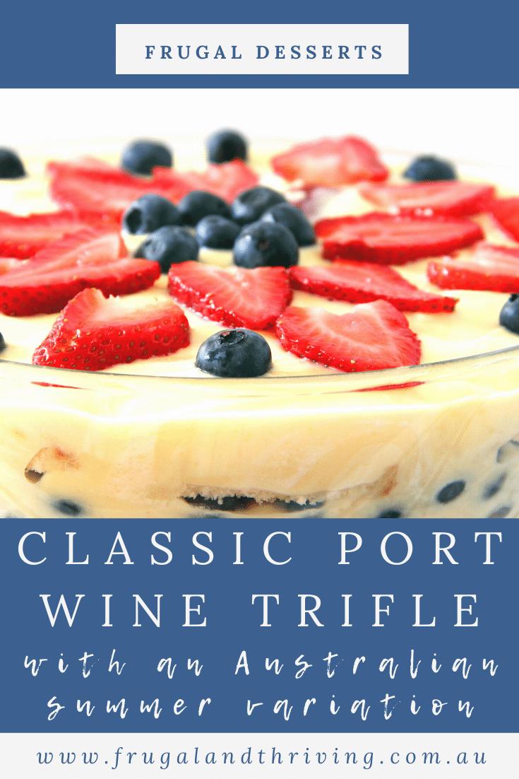 Old Fashioned English Port Wine Jelly Trifle Recipe