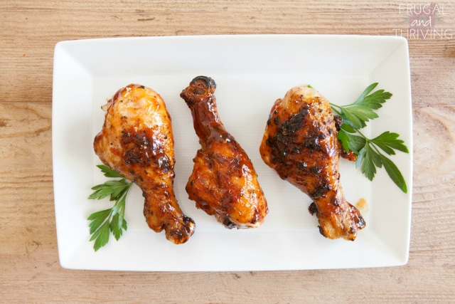 sticky marinated chicken drumsticks