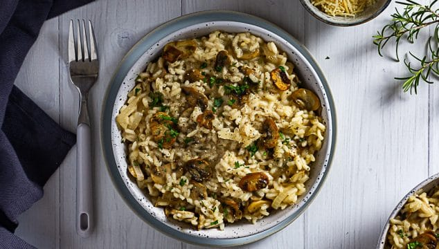 mushroom and rosemary risotto