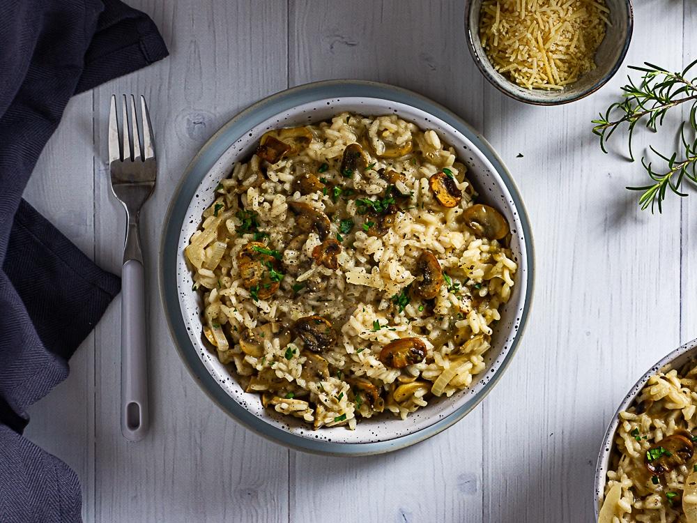 mushroom and rosemary risotto