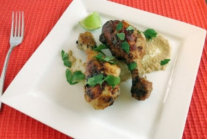 chiicken drumsticks with spiced yogurt marinade