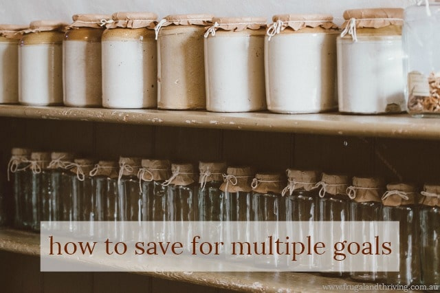 How to save for multiple goals