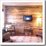 Pallet Wall by Mom and Her Drill   Pallet Upcycle Round Up   Frugal and Thriving