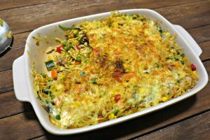 Cheap and tasty tuna noodle bake.