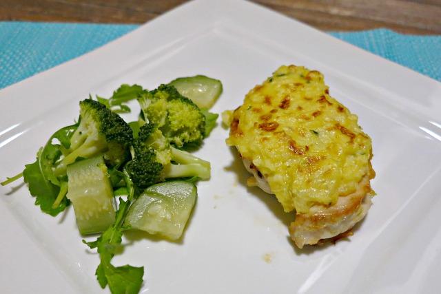 cheesy potato topped chicken breast