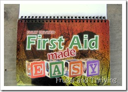 first aid in (and out of) the home