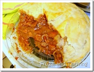 Old fashioned beef pie