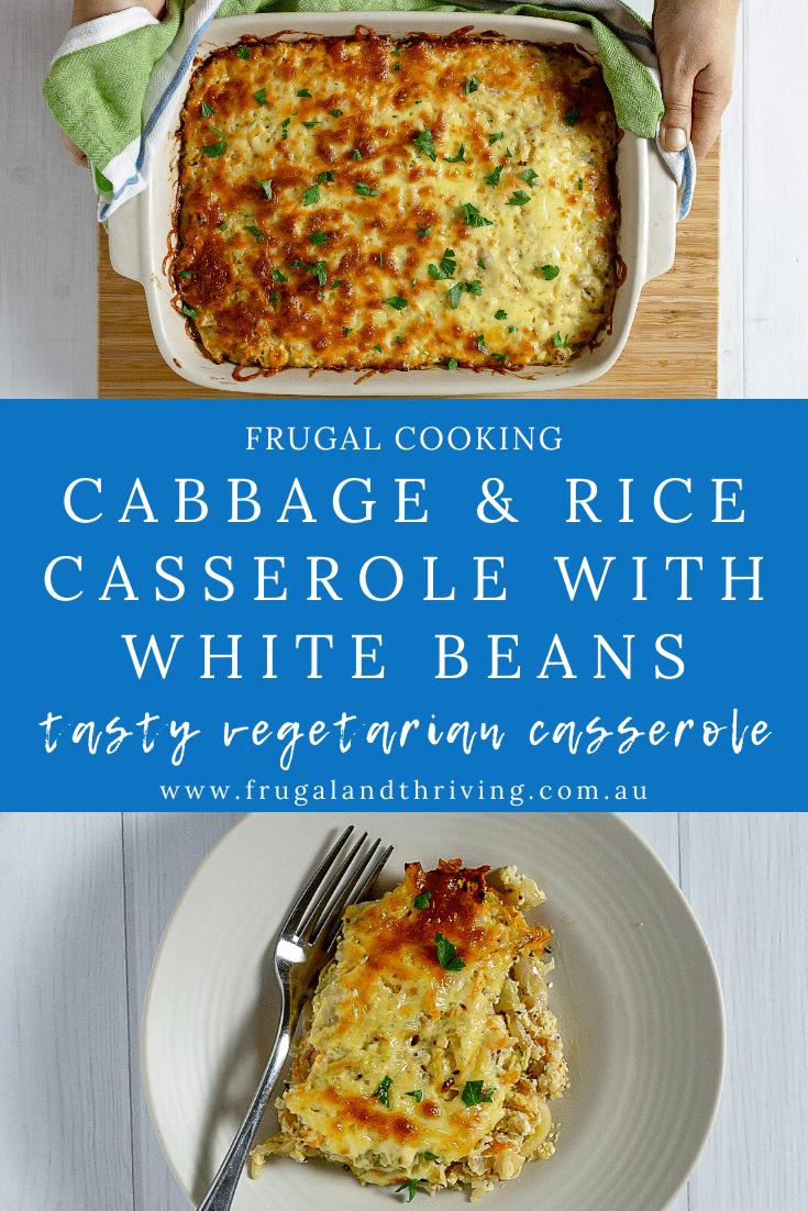 Cabbage and Rice Casserole with Cannellini Beans