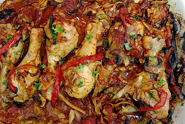 One-Pan Paprika Chicken with Cabbage
