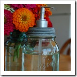 soap dispenser from jar