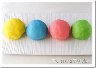 Homemade No Cook Play Dough