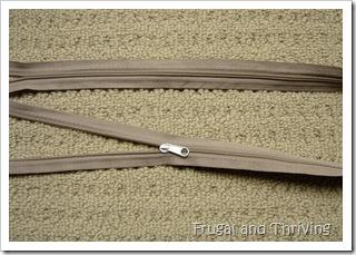 repaired zipper