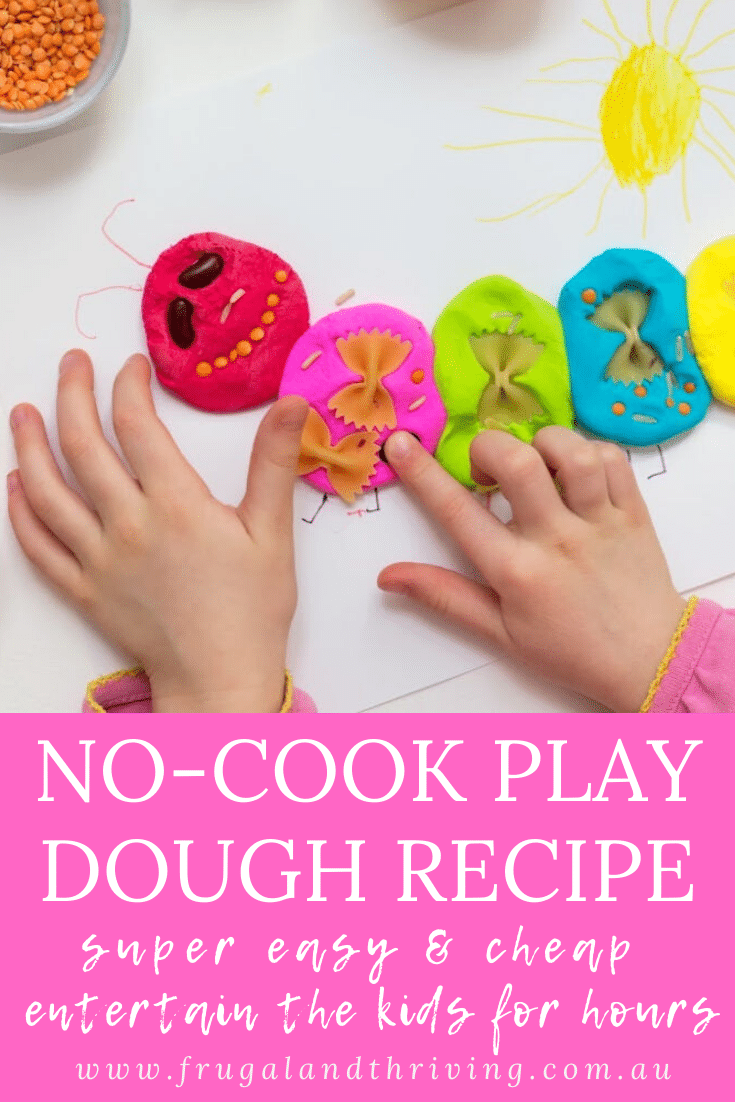 Easy Homemade No-Cook Playdough Recipe From Pantry Ingredients