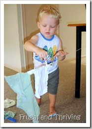 more toddler play ideas– pretend play chores for free