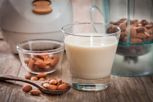 homemade almond milk and almond meal