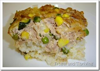 tuna and vegetable slice