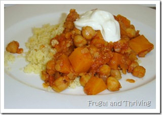 chickpea and pumpkin curry