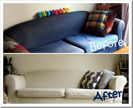 revive the look of an old lounge with a DIY slipcover
