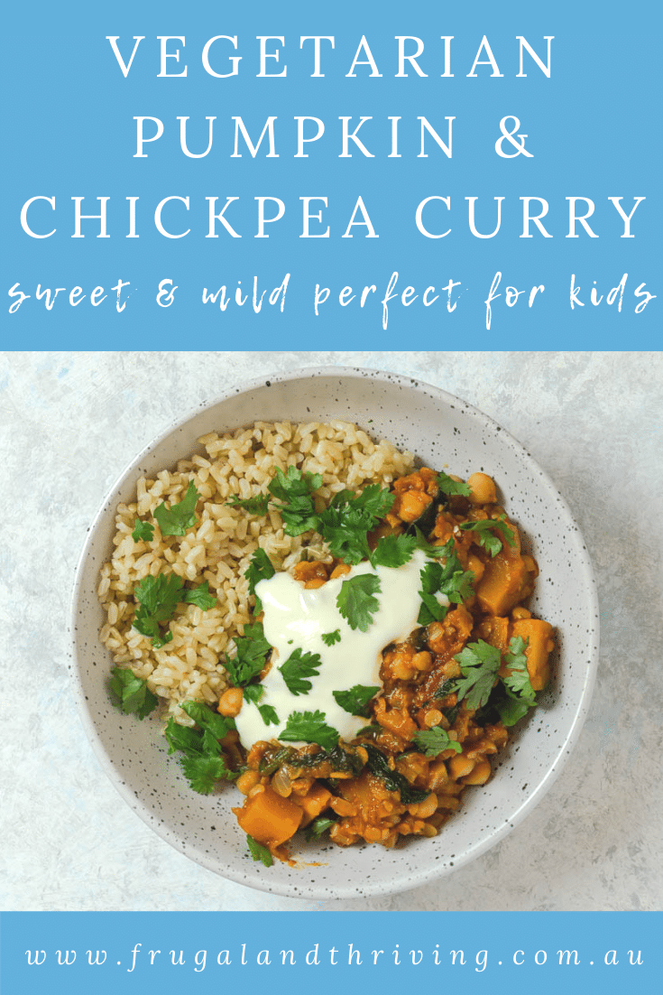 Pumpkin Chickpea Curry with Spinach and Tomatoes
