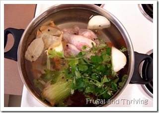 how to make chicken stock–a step by step tutorial