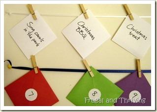 frugal advent calendar 2