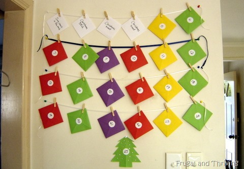 frugal advent calendar for christmas