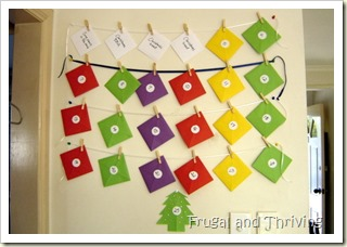 frugal advent calendar