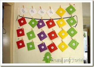 frugal advent calendar