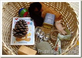 Frugal Baby Play Ideas Inspired by RIE, Montessori and Waldorf