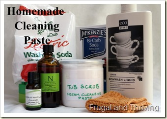naturally clean–homemade cleaning paste