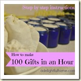100-all-natural-body-care-products-in-one-hour from a delightful home | Frugal Handmade Gift Ideas | Frugal and Thriving