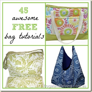 45 awesome free bag tutorials   Frugal and Thriving