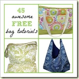 45 awesome free bag tutorials | Frugal Handmade Gift Ideas | Frugal and Thriving