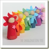 DIY-flower-fairy-peg-dolls from The Imagination Tree | Frugal Handmade Gift Ideas | Frugal and Thriving