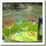 Handpainted Glasses from Second Chance to Dream | Frugal Handmade Gift Ideas | Frugal and Thriving