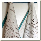 Handwritten Recipe on Tea Towel from Spoon Flower | Frugal Handmade Gift Ideas | Frugal and Thriving