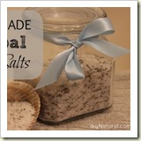Homemade Herbal Bath Salts from DIY Natural | Frugal Handmade Gift Ideas | Frugal and Thriving