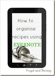 How to organise recipes using evernote
