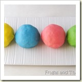 No Cook Playdough from Frugal and Thriving | Frugal Handmade Gift Ideas | Frugal and Thriving